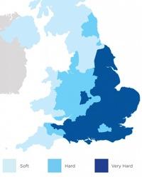 Hard Water Map UK